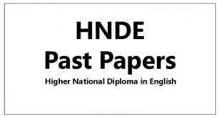 HNDE Past papers